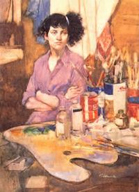 Burt Silverman AWS. A Young Painter