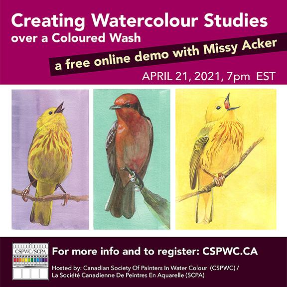 Workshop - Missy Acker - Creating Watercolour Studies