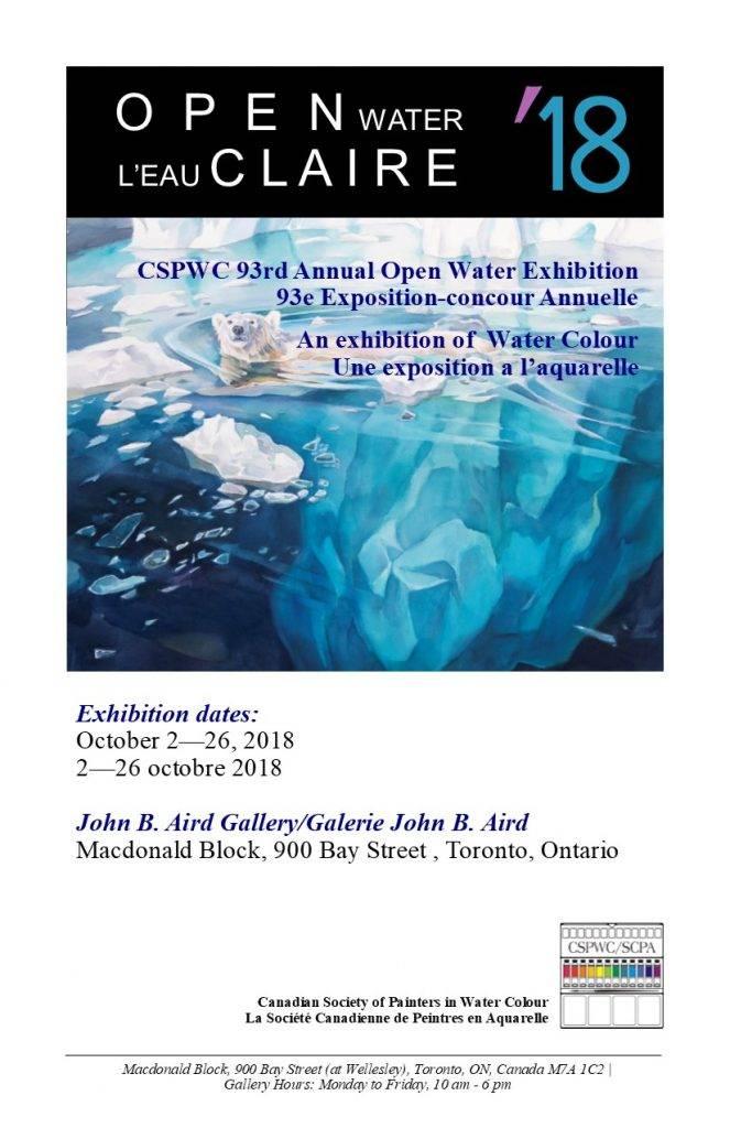 Open Water L'eau Claire 2018 Catalogue
