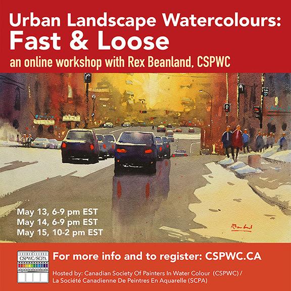 Workshop - Rex Beanland - Urban Landscape Watercolours
