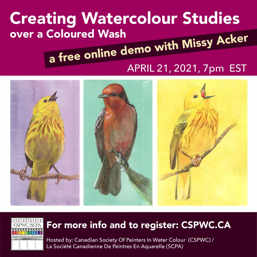Creating Watercolour Studies over a Coloured Wash demo by Missy Acker