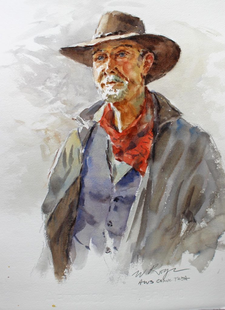 """Outlaw, 22×15"""", water colour"""