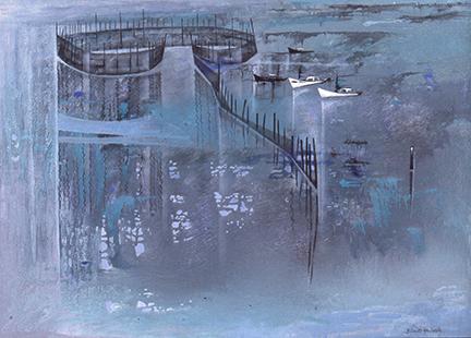Haworth, Bobs Cogill, 1932, Herring Weir Bay of Fundy, 73x96