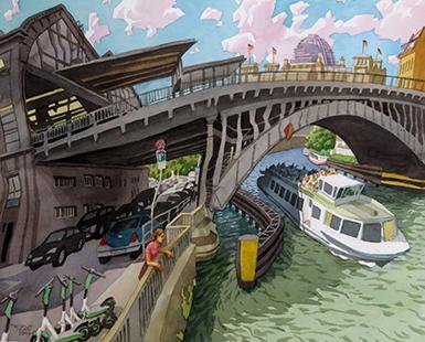 FriedrichstrBrücke - Frederick St. Bridge (Berlin), dated 2019