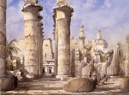 Batten, Anthony, 1980, The Colonnade Great Temple Luxor Egypt, 74x93