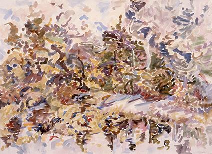 Squire, Margaret, 1980, Rose Lake, 79x97