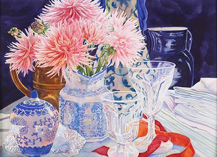 Zarull, Katherine, 1999, Blue Jugs, 66x84