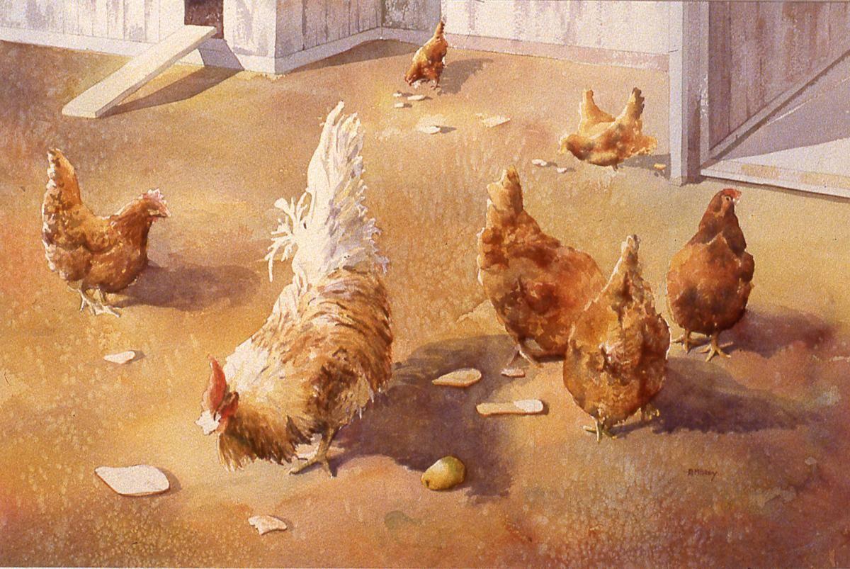 McGuey, Barbara, 1995, Hen Party, 56x74