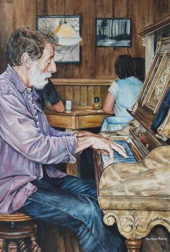 Babcock, Jill, The Piano Man, 16.25x10.75