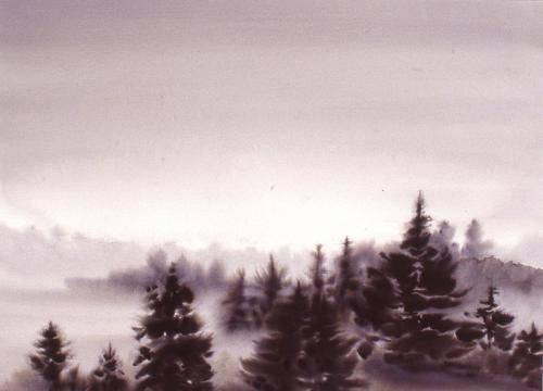 Barker, Hi Sook, 2000, One Misty Morning, 81x101