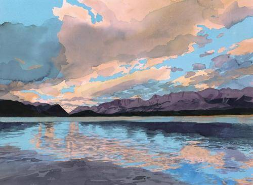 Bartel-Eva-1-Evening-Lower-Kananaskis-Lake-21-5-x-29-25-inches-watercolour-2020