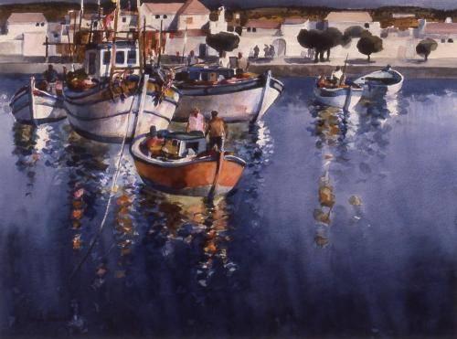 Black, Sam, 1963, Fishermen Portugal. 73x92