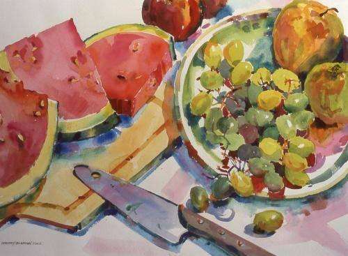 Blefgen, Dorothy, 1998, Patio Party, 74x59
