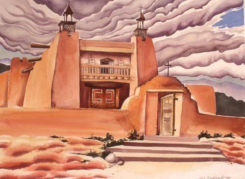 Burkhardt, Heidi, 2000, Las Trampass Church, 61x76