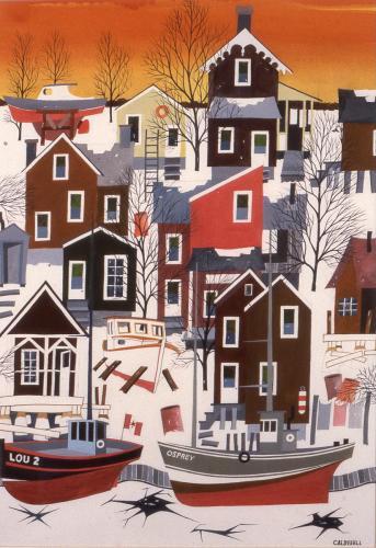 Caldwell, Gil, 1994, Fisherman's Haven Winter, 97x75