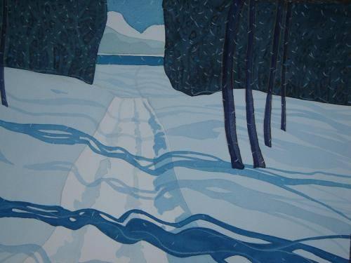Cameron, Gill, 2008, Blue Shadows, 11x15