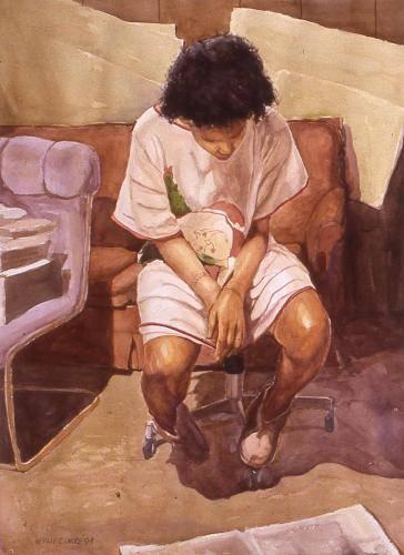 Clarke, Neville Lloyd, 1995, Janice Looking for Work, 97x75