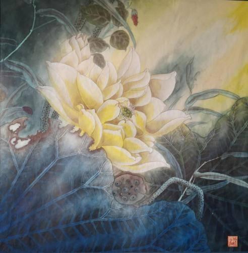 Liang-Shaoyang-2-Morning-Light-19X19-inches-watercolor-2019