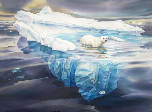 David McEown, Open Water Juror | Looking for Ice, 22 x 30